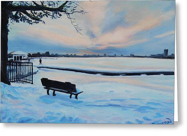 On The Charles Greeting Card by Sue Birkenshaw