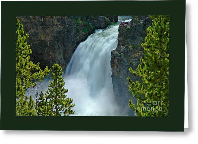 Greeting Card featuring the photograph On The Edge by Nick  Boren