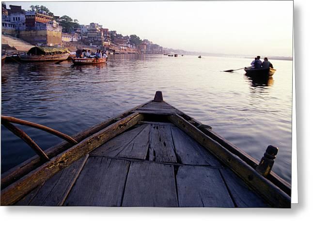 On The Ganges River, Varanasi, India Greeting Card
