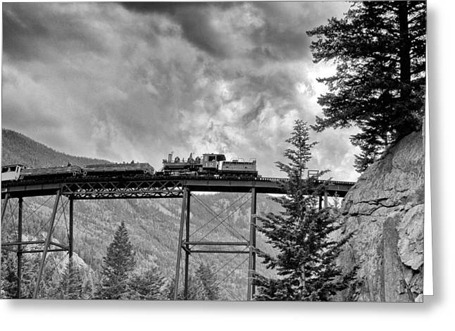 On The High Bridge Greeting Card by Shelly Gunderson