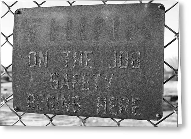 On The Job Safety Greeting Card