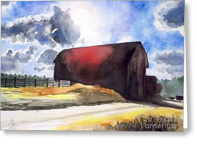 On The Macon Road. - Saline Michigan Greeting Card by Yoshiko Mishina