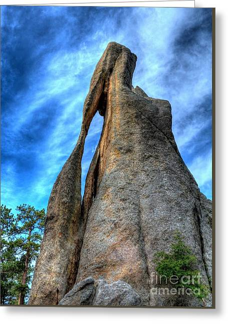 On The Needles Highway 3 Greeting Card