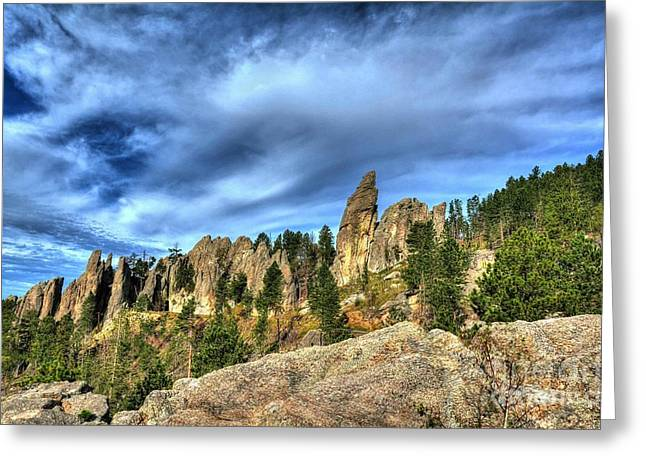 On The Needles Highway 5 Greeting Card