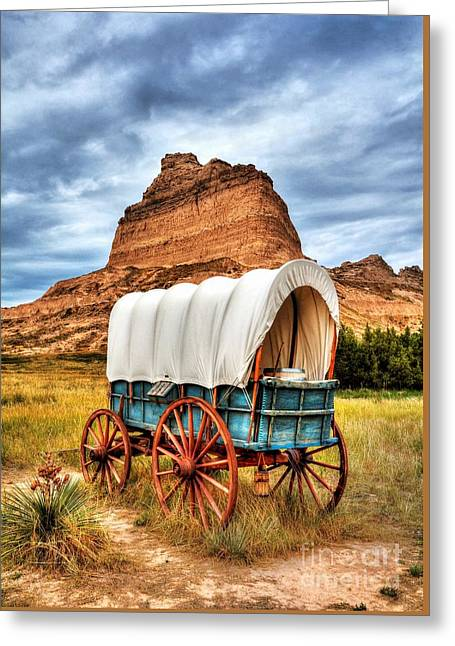 On The Oregon Trail 3 Greeting Card by Mel Steinhauer