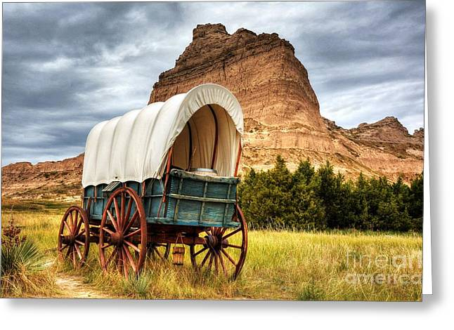 On The Oregon Trail Greeting Card by Mel Steinhauer