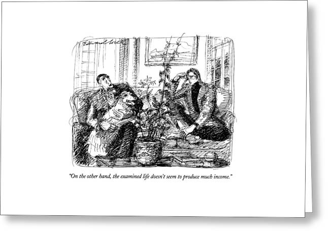 On The Other Hand Greeting Card by Edward Sorel