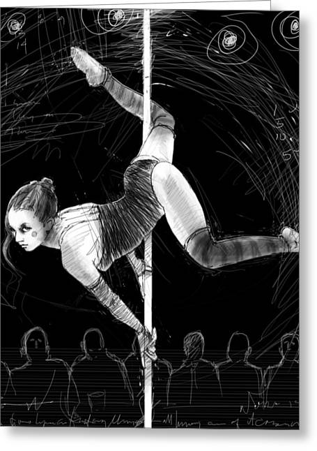 On The Pole 2 Greeting Card by H James Hoff