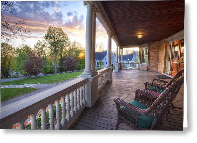 On The Porch Greeting Card by Eric Gendron
