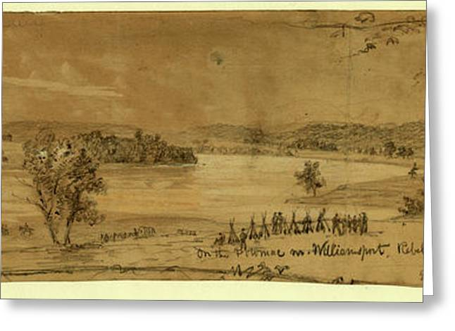 On The Potomac Nr. Williamsport Greeting Card