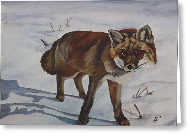 On The Prowl Greeting Card by Kim Selig