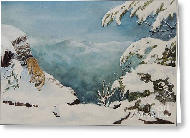 On The Prowl Sold Greeting Card
