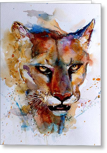 On The Prowl Greeting Card by Steven Ponsford