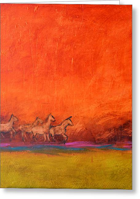 On The Range Greeting Card by Filomena Booth