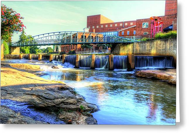 On The Reedy River In Greenville Greeting Card