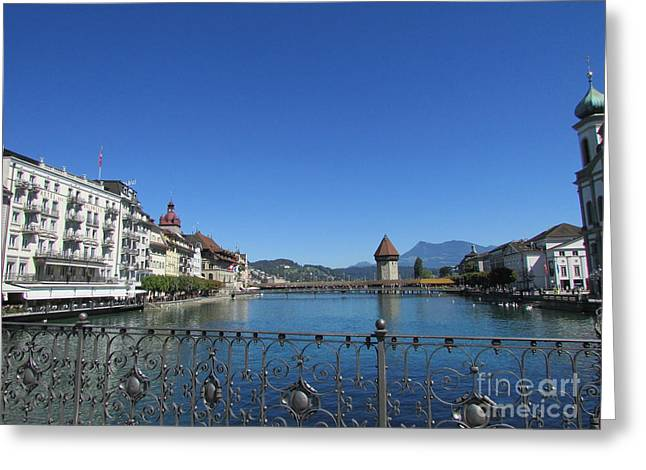 On The Reuss River Greeting Card