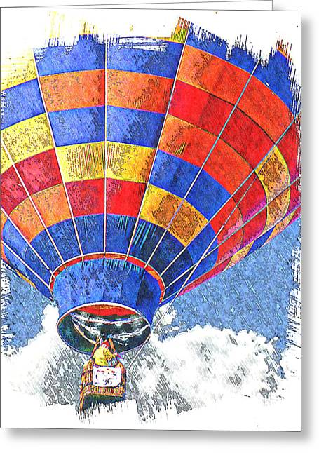 On The Rise Greeting Card by Ken Evans