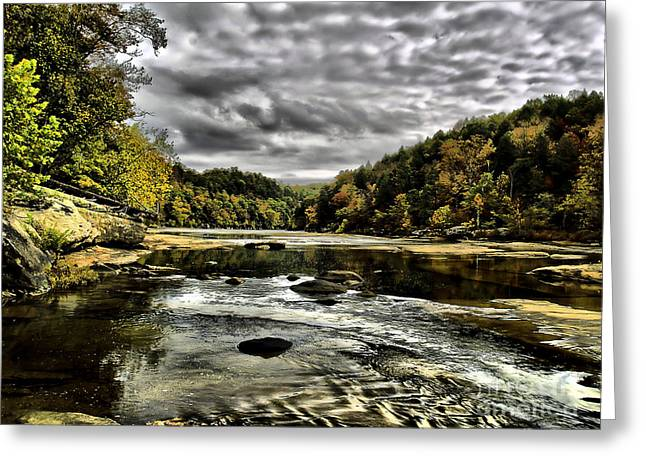 On The River Greeting Card by Ken Frischkorn