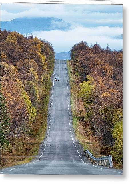 On The Road Again Greeting Card by Christian Lindsten