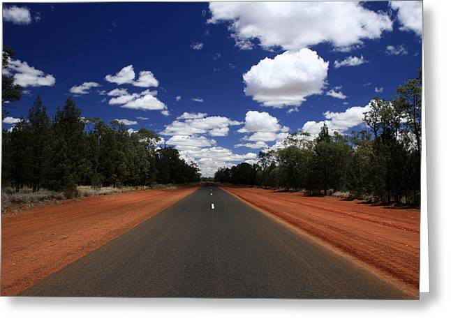 On The Road To Nindigully Greeting Card