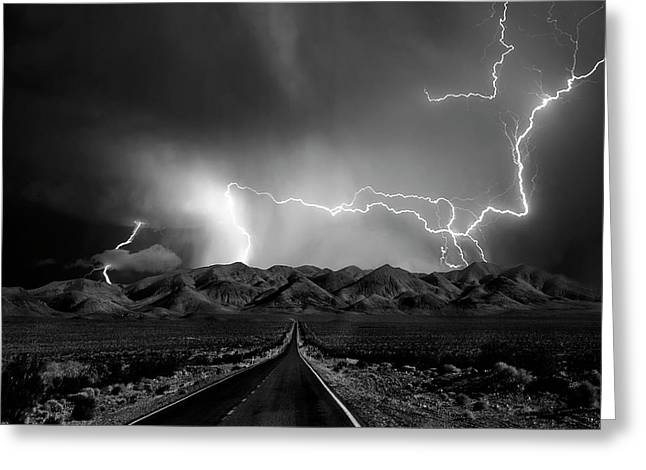 On The Road With The Thunder Gods Greeting Card by Yvette Depaepe