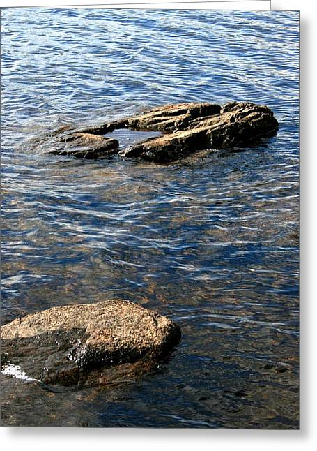 On The Rocks # 2 Greeting Card