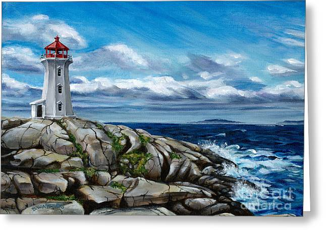 On The Rocks Peggy's Cove Greeting Card