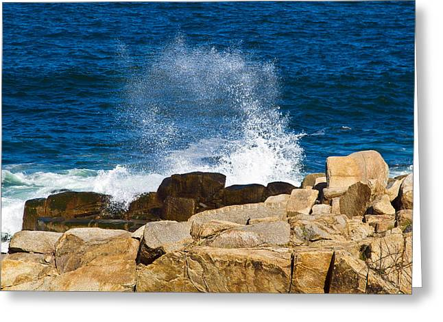 On The Rocks With A Splash Greeting Card