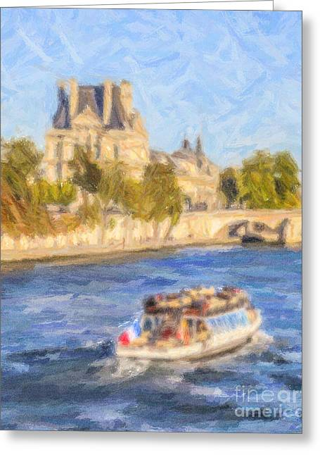 On The Seine Greeting Card