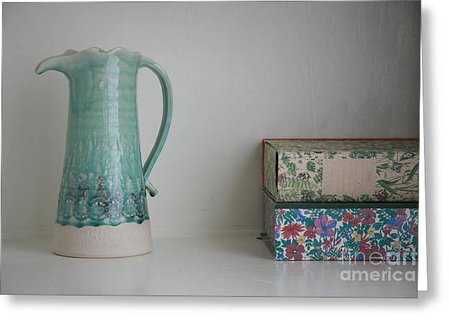 Greeting Card featuring the photograph On The Shelf.... by Lynn England