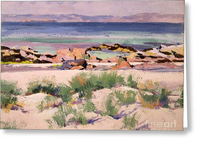 On The Shore  Iona  Greeting Card by Francis Campbell Boileau Cadell