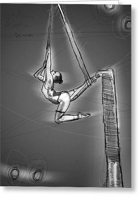 On The Silks Greeting Card by H James Hoff