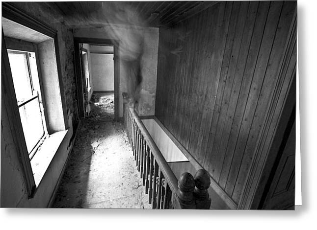 On The Stairs Greeting Card by David Hollinger