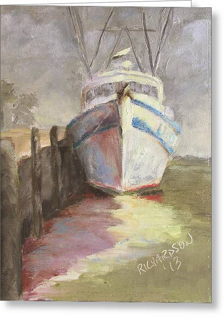 On The Waterfront Greeting Card by Susan Richardson