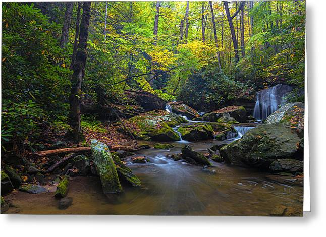 On The Way To Catawba Falls Greeting Card