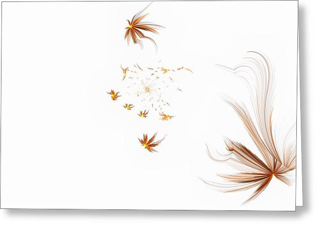 On The Wind Greeting Card by GJ Blackman