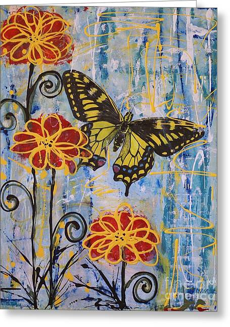On The Wings Of A Dream Greeting Card by Jane Chesnut
