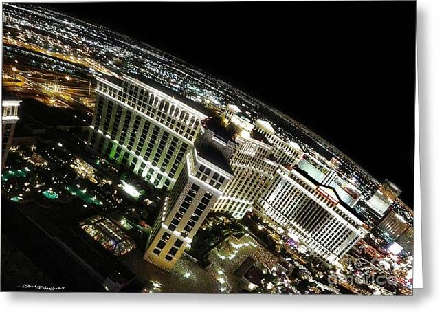 On Top Of Las Vegas Greeting Card by Christine Mayfield