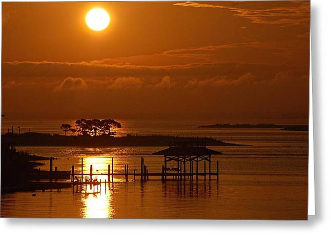 On Top Of Tacky Jacks Sunrise Greeting Card by Michael Thomas