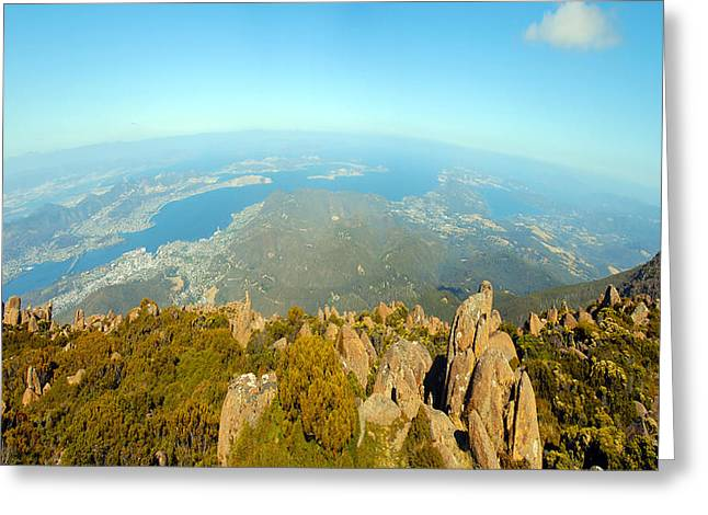 On Top Of The World Tasmania Greeting Card