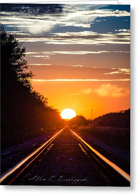 Greeting Card featuring the photograph On Track by Allen Biedrzycki
