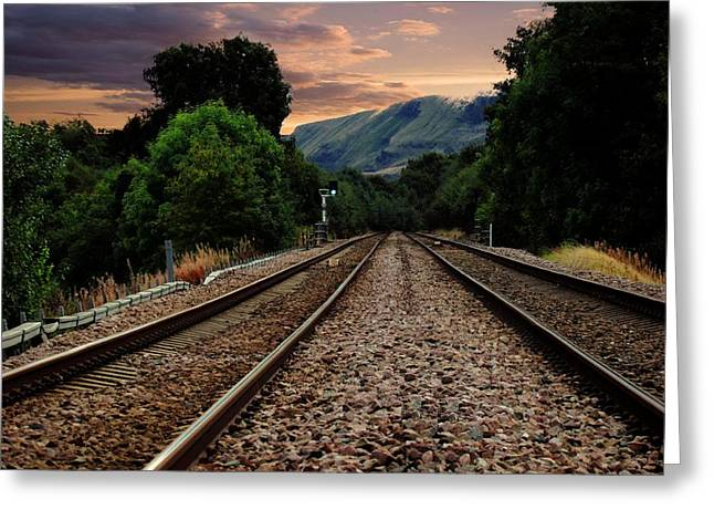 On Track. Greeting Card