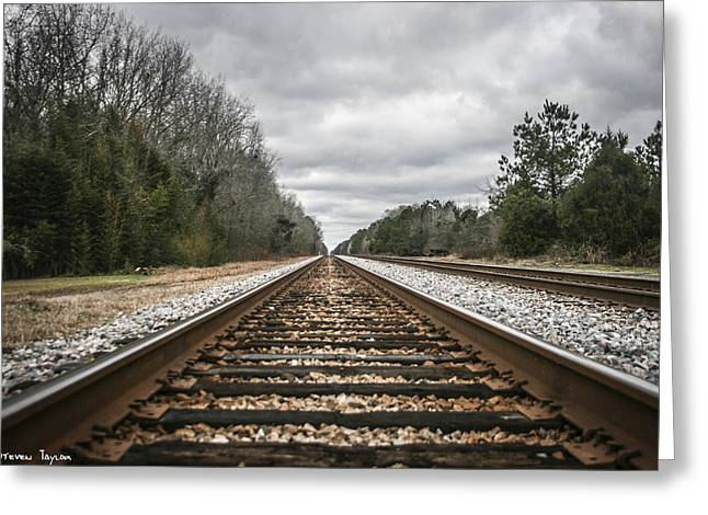 On Track Greeting Card by Steven  Taylor