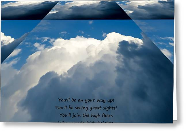 On Your Way Up Greeting Card by Pete Trenholm