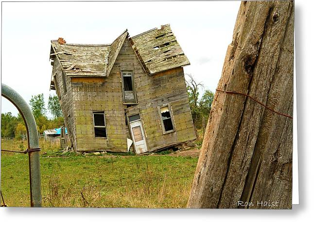 Once A Home Greeting Card by Ron Haist