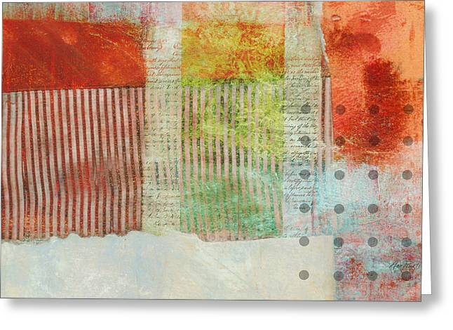 Once Again Abstract Art Greeting Card by Ann Powell