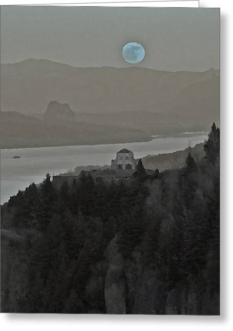 Once In A Blue Moon Greeting Card by Judi Baker