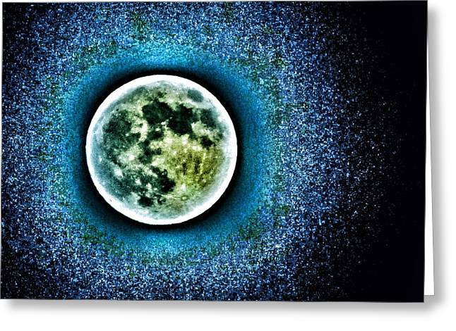 Once In A Blue Moon Greeting Card by Marianna Mills