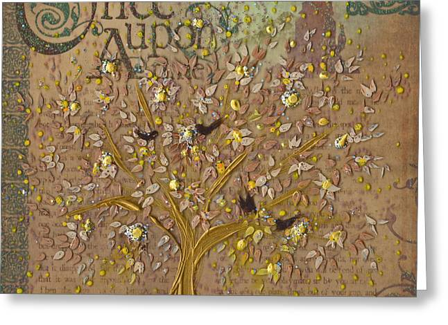 Once Upon A Golden Garden By Jrr Greeting Card