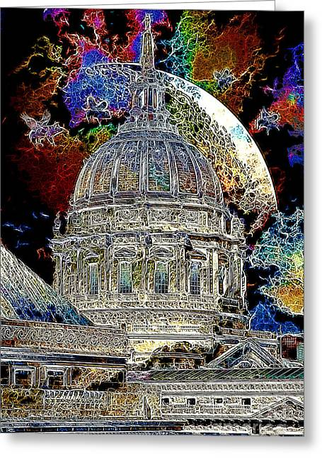 Once Upon A Time On A Warm Summers Night In San Francisco 5d22548 Artwork Greeting Card by Wingsdomain Art and Photography